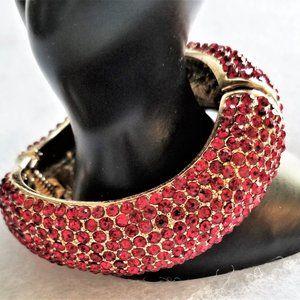 Amrita Singh Priscilla Bracelet, Ruby Red Crystals